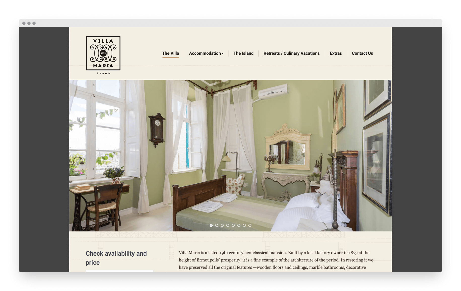 Villamaria Website 1