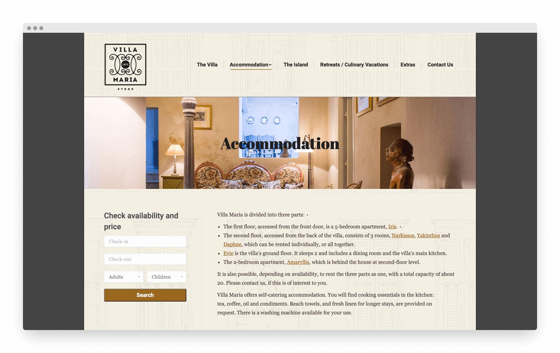Villamaria Website 6