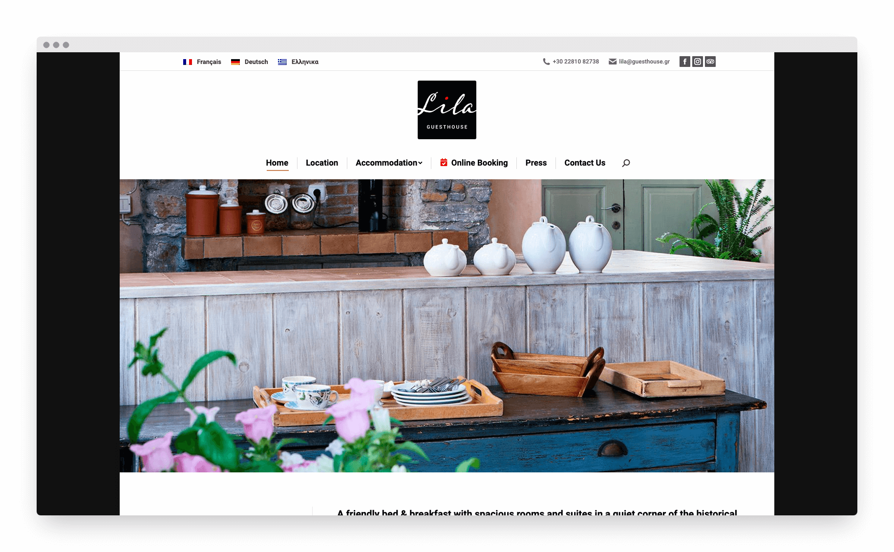 Lila Guesthouse Website 1