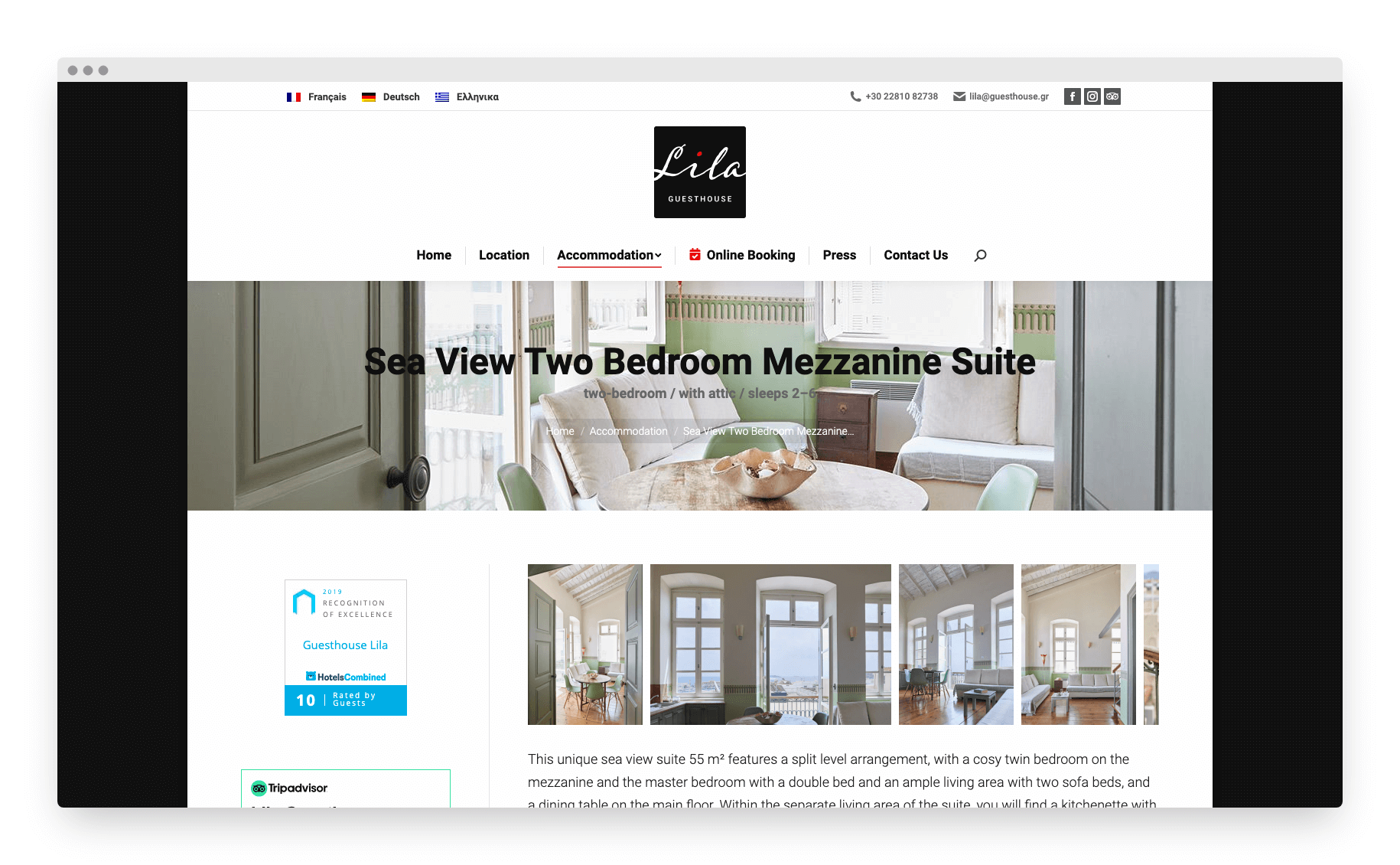 Lila Guesthouse Website 10
