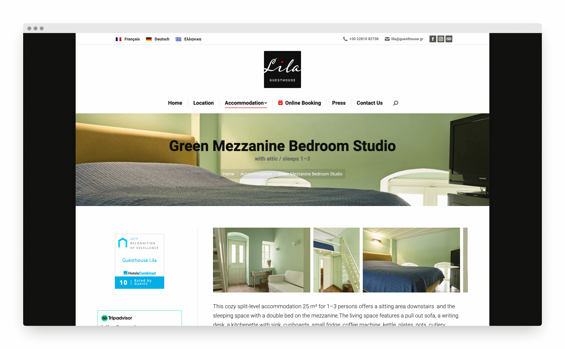 Lila Guesthouse Website 6