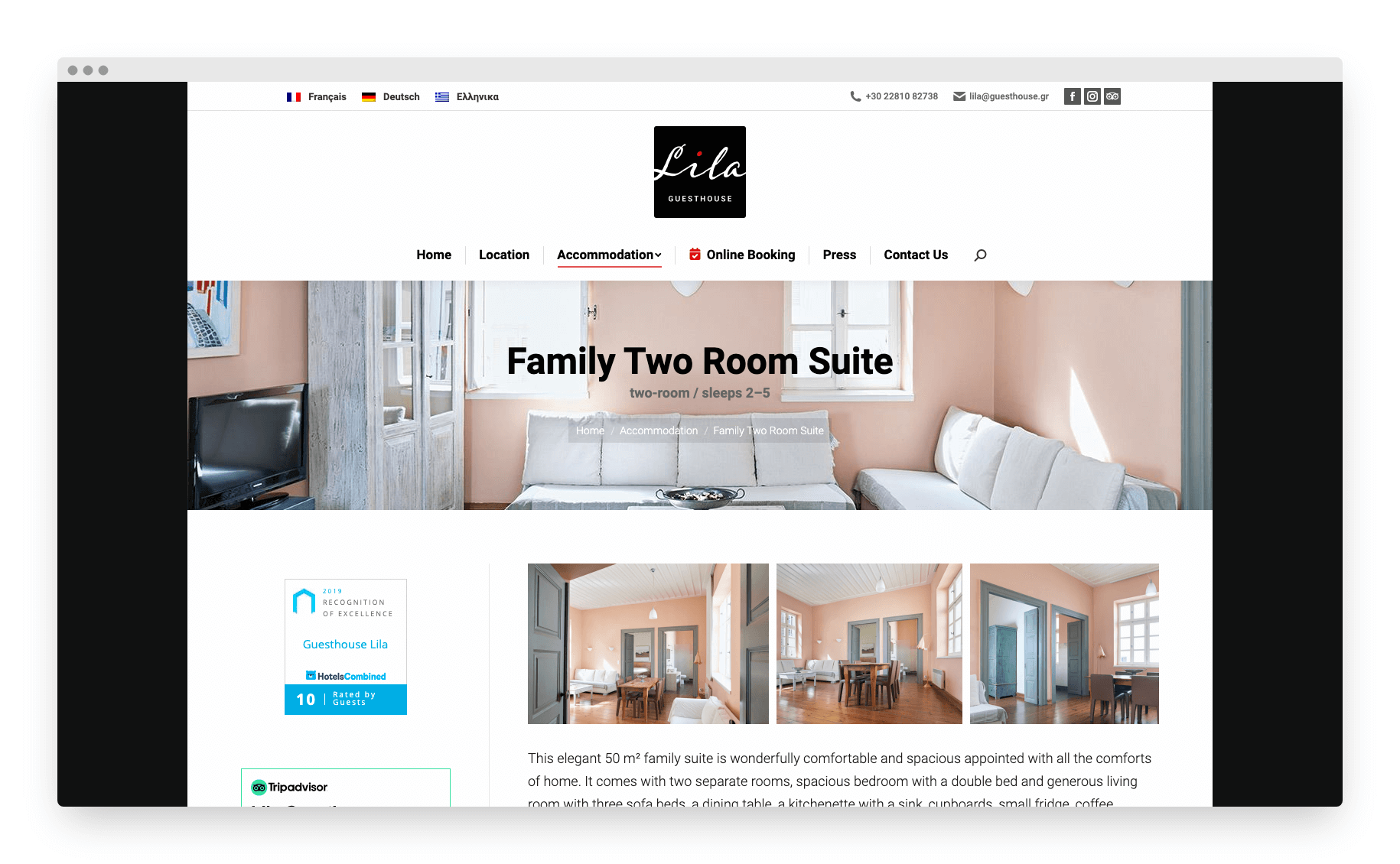 Lila Guesthouse Website 9